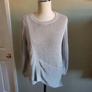 Club Monaco Knit Silver Sweater Size Small